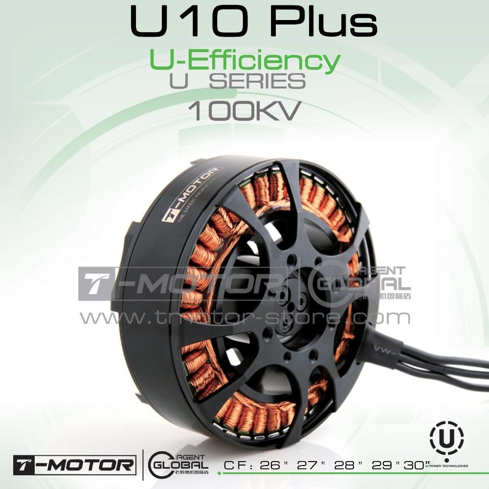 T-MOTOR professional U-POWER MOTOR U10 plus KV100 ps for rc plane professional drones;Brushless Motor
