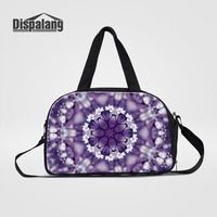 Dispalang Large Capacity Women Travel Bag Flower Print Casual Luggage Bag Travel Handbag Multifunction Shoulder Bag