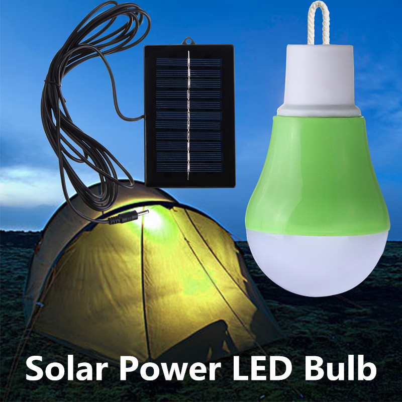 Portable Solar Power LED Bulb 2835 SMD 12 Solar Light Outdoor Lighting Camping Lanp For Fishing Hiking Tent Lamp