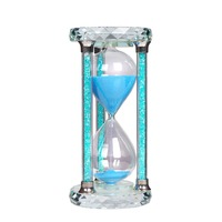 K9 Crystal One Hour Sand Timer 60 Minute Glass Sand Clock Crystal Craft Decorative Ornament Home Decor Accessories Gift
