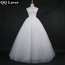 Korean Lace Up Ball Gown Quality Wedding Dresses 2018 Alibaba Customized Plus Size Bridal Dress Free Shipping Vestido De Noiva
