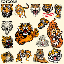 ZOTOONE Pyrography Heat Transfer Personality Variety Tiger Iron on Animal Patches DIY Clothes T-shirt Brand Logo Patch Applied D
