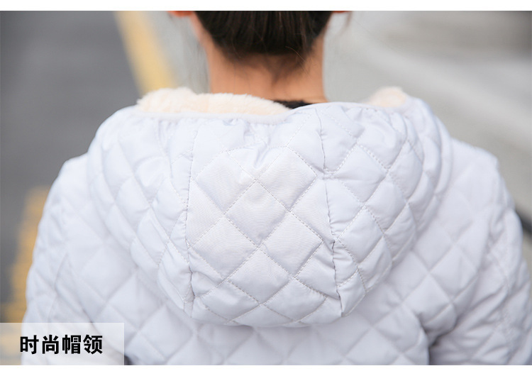 Autumn 2019 New Parkas basic jackets Female Women Winter plus velvet lamb hooded Coats Cotton Winter Jacket Womens Outwear coat 32
