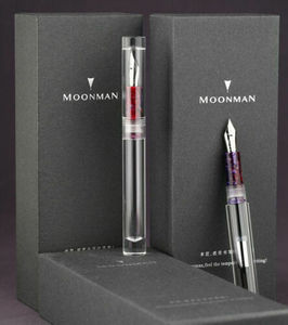 Image 3 - Moonman C1 PMMA 투명 투명 아크릴 만년필 F 펜촉 그립 색상 무작위로 편지지 사무 용품