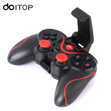 DOITOP T3 Smartphone Game Gamepad Controller Wireless Bluetooth Joystick With Phone Stand Holder for Android Smartphone Tablet 3