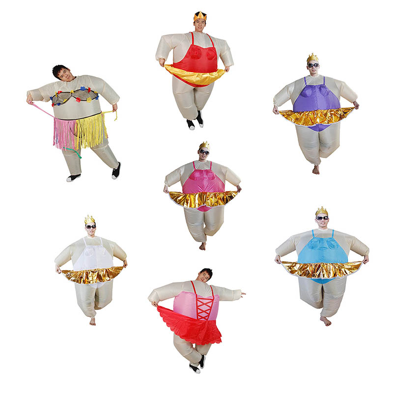 Inflatable Ballet Costume Halloween Party Funny Fat Adult Man Dress Fancy Animal Inflatable Costume Man Fancy Costume