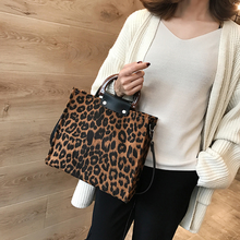 hot deal buy leopard women handbags big capacity pu leather females handbags fashion leopard women messenger bags handle tote bags for women
