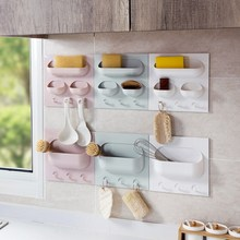 1 Pc Storage Wall Suction Cup Plastic Rack Cosmetic Toiletries Sundries Holder Bathroom Organizer