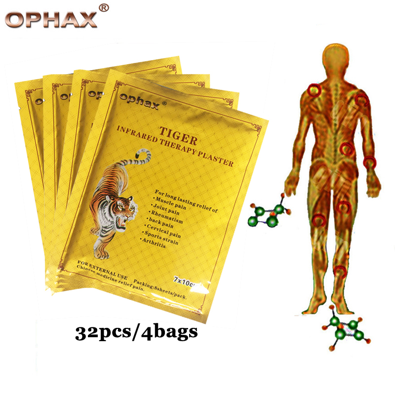 OPHAX 32Pcs Tiger Balm Medical plasters Treat Joint pain Osteoarthritis Bone Hyperplasia Rheumatism cervical spondylosis patch 16pcs chinese herbal medicine joint pain tiger balm arthritis rheumatism myalgia treatment massage plasters c201