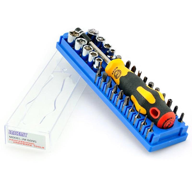 JM-6095 31 en 1 Kit de tournevis outils de réparation Automobile ensembles d'outils à main outil démonté pour réparation d'ordinateur de téléphone portable