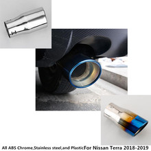 For Nissan Terra 2018 2019 car Styling cover muffler exterior end pipe outlet dedicate stainless steel exhaust tip tail 1pcs