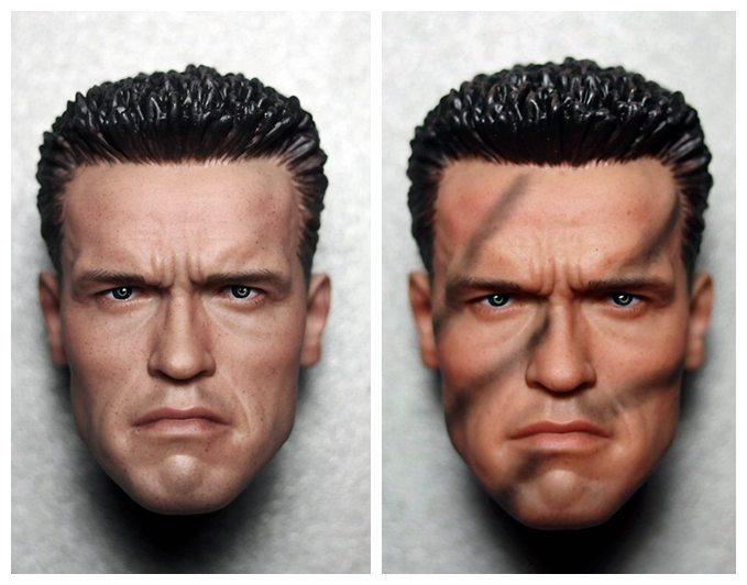 1/6 scale figure doll Terminator Arnold Schwarzenegger head shape for 12 action figure doll accessories male Head carved 1 6 scale figure doll head shape for 12 action figure doll accessories the terminator arnold schwarzenegger male head carved