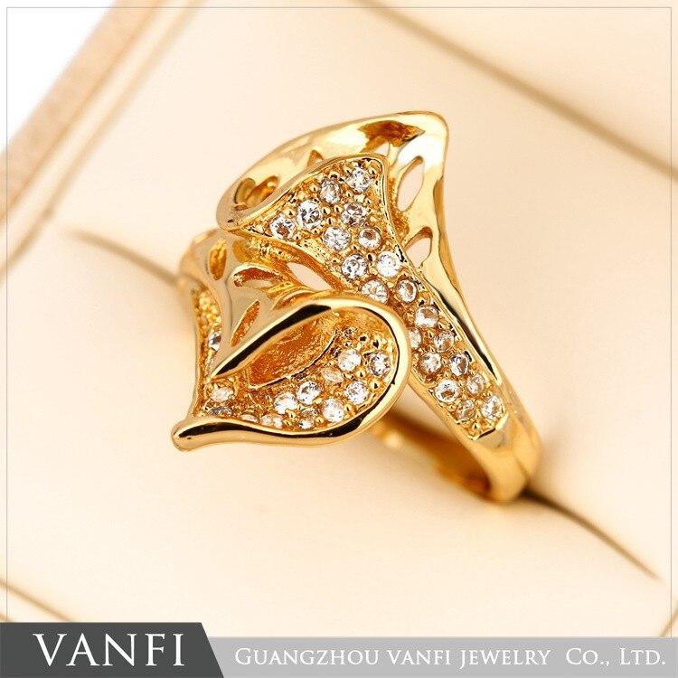 4b73f64215 Or de mariage croix Anneau argent plaqué avec AAA zircon de mode belles  femmes anneaux