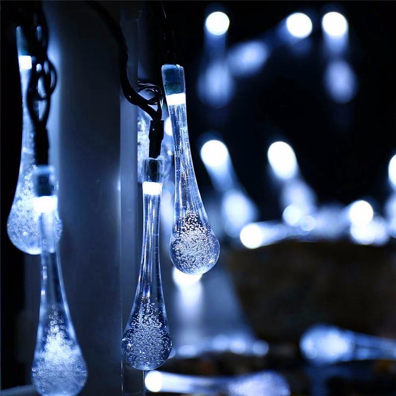 LED luces solar forma de gota  (4)
