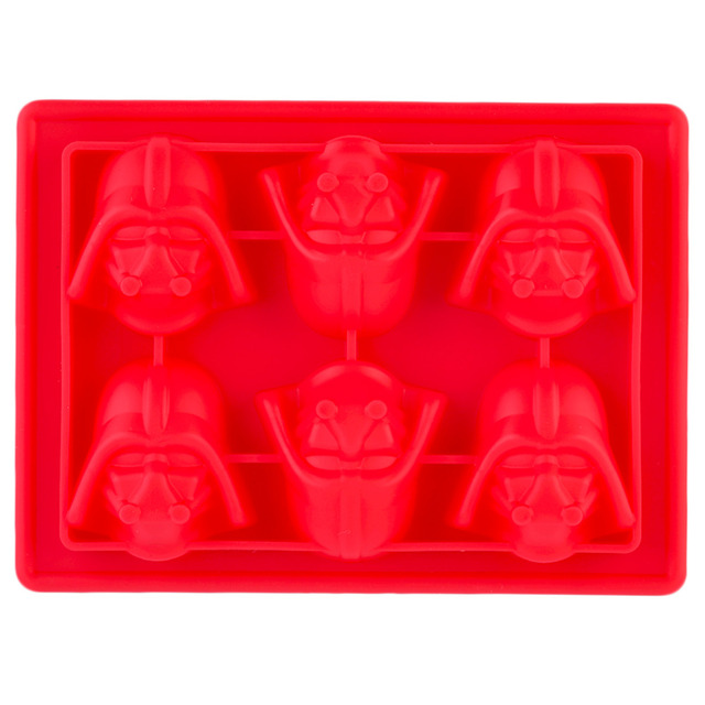 Durable Silicone Mold Star Wars Darth Vader Shape Ice Cube Tray Mold Cookies Chocolate Soap Baking Mold