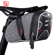 WHEEL UP Bike Bag Rainproof Saddle Bag Reflective Bicycle Bag Shockproof Cycling Rear Seatpost Bag MTB