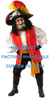Captain Pirate Mascot Costume Adult Size Cartoon Character Pirate Theme Mascotte Mascota Suit Kit Fit SW1088