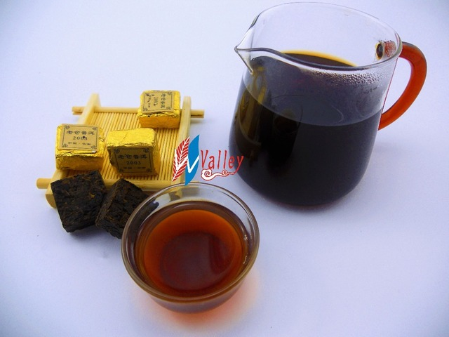 Cha Wu[B]-LaoCang Chinese PuerTea,20Pcs Sticky Rice Of Ripe Puer Tea,  Puer Tea Mini Brick