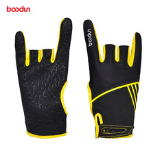 Boodun Professional Men Women Bowling Glove Anti-Skid Soft Sports Bowling Ball Gloves Bowling Mittens Bowling Accessories(China)