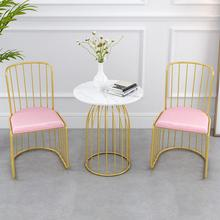 Северный стул, домашний простой красный стул с сеткой, стул для отдыха ins, кофейня, повседневный креативный стул