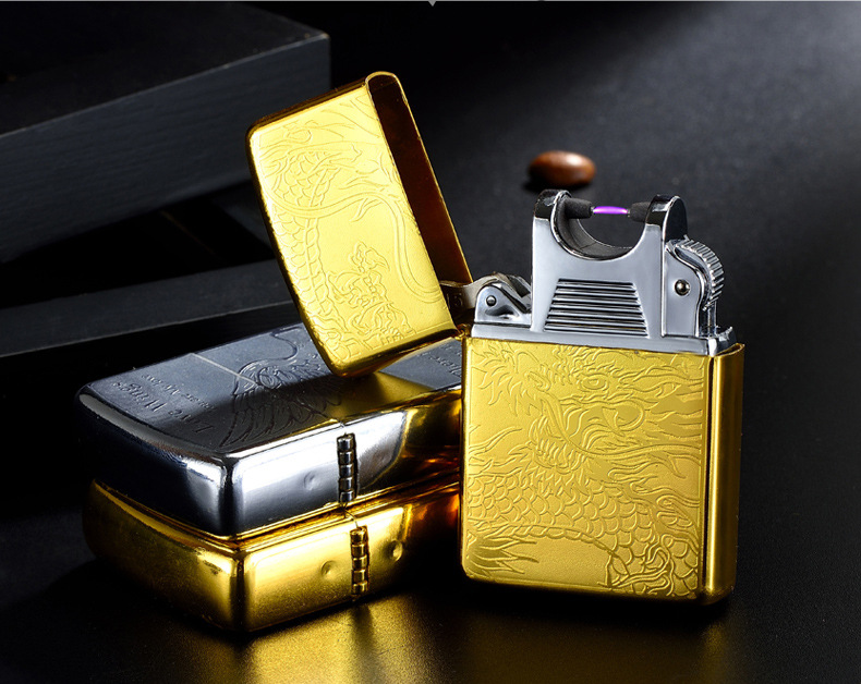 creative Electric ARC windproof rechargeable USB electronic cigarette lighter