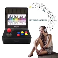 Ретро видео игры Портативный мини портативные игровые консоли 4,3 дюймов 64bit с 3000 классических игр двойной геймпады управления