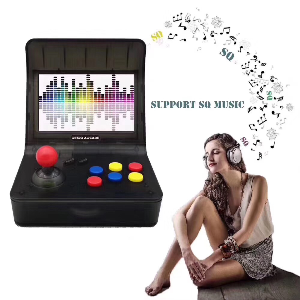 Retro Video Game Portable Mini Handheld Game Console 4.3 Inch 64bit With 3000 Classic Games Dual Gamepads Controls цена и фото