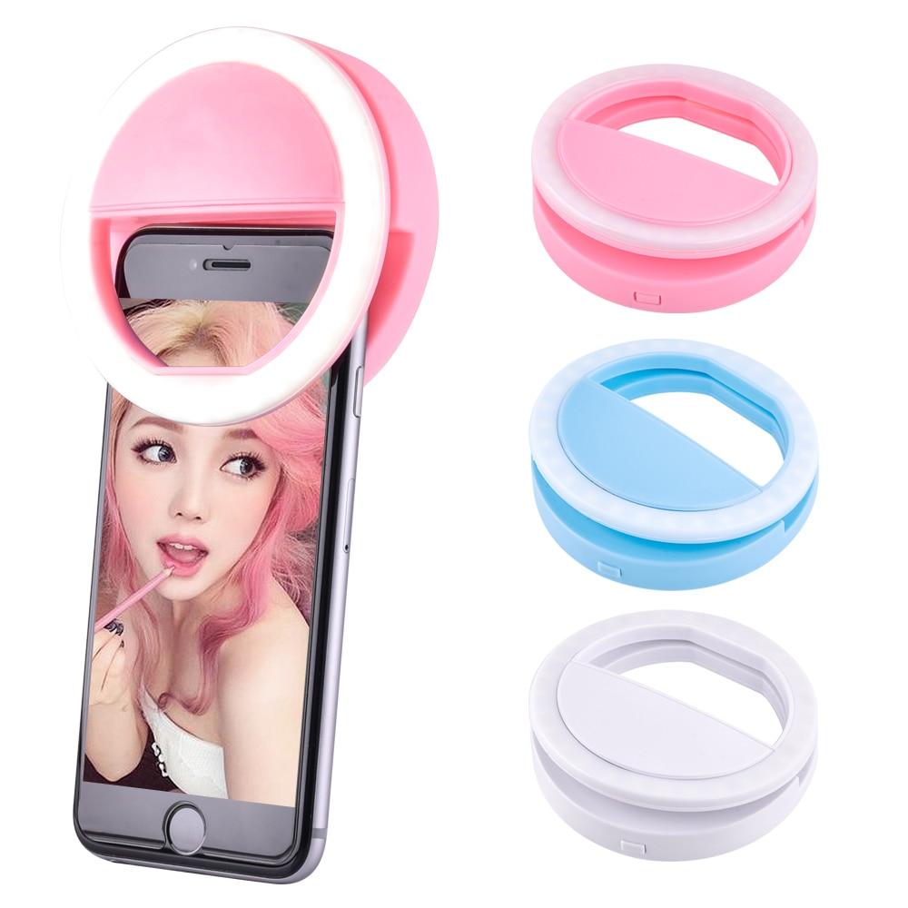Universal USB Charging Selfie Ring Led Phone Light Lamp Mobile Phone Lens LED Sefie Lamp Ring Flash Lenses For IPhone Samsung