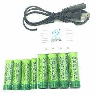 Poweful 8 Pcs Etinesan NiZn 1.6 V AA 2500mwh Bateria Recarregável + 4 slots NiMH AA AAA Ni-Zn conjunto Carregador de bateria