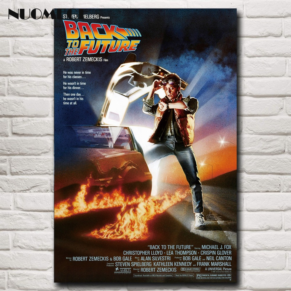 NUOMEGE Back To The Future Poster Car Movies Art Silk