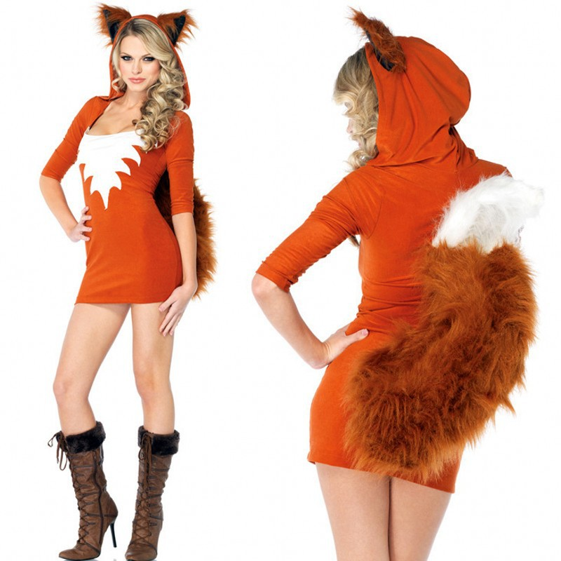 New Halloween Adult Women cute Small Fox Style Sexy Club Wear Hot Party Night Cosplay Costumes