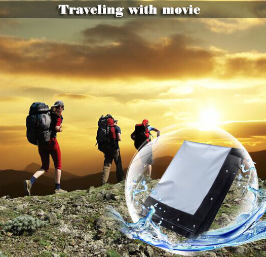 100 inches 16:9 Portable Wall Mounted Matt White Soft Curtain Folding Outdoor Projector Screen for LED LCD HD Movie Projection diamond 200 electric white curtain electric curtain projection screen hd