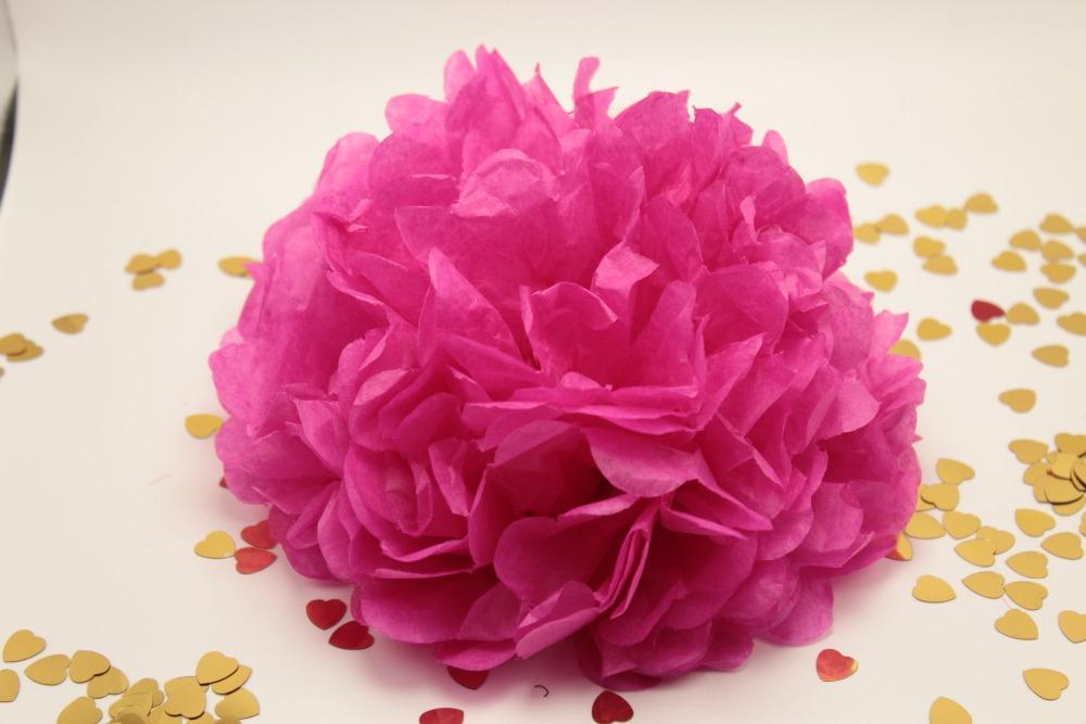 pulgadas fucsia rosa tissue paper pompones de flores bolas de boda centros de mesa decoracin