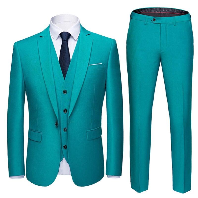 Plyesxale 黄色赤、紫、緑ブラウンピンク白の男性が結婚式 3 ピース男性ドレススーツ 2018 プラスサイズ 4XL 5XL 6XL Q148