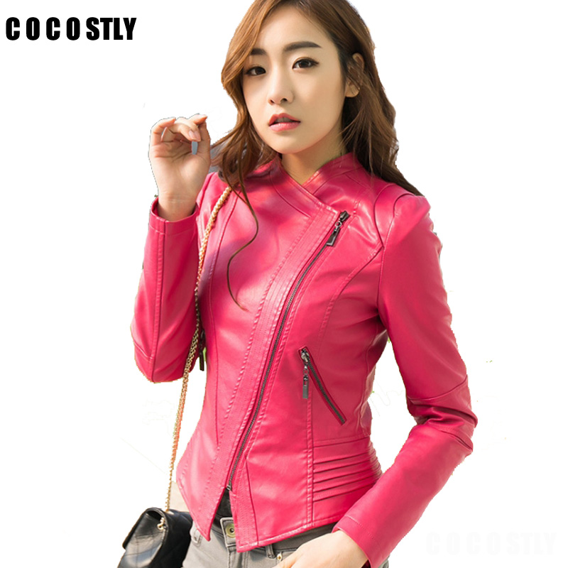 High Quality 2018 Spring   Leather   Jacket Women Faux Soft   Leather   Jackets Pu Zippers Coat Motorcycle Outerwear Plus Size 4XL