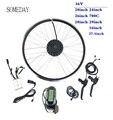 Когда-нибудь Электрический велосипед конверсионный комплект 36В 250 Вт передний бесщеточный мотор-концентратор колесо с KT LCD6 дисплей Ebike комп...