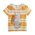 Pettigirl 2017 muchachos del verano de manga corta t-shirt de impresión de dibujos animados ocasional raya amarilla niños tops bebé niños ropa bt90315-12l