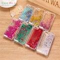 3D das Mulheres Bonitas Estrelas do Glitter Líquido Dinâmico Areia Movediça Caso Capa Dura para iphone 5 5s 6 s 6 s casos de telefone claro transparente