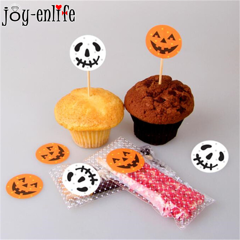 120pcs 3cm Halloween Pumpkin Ghost Stickers DIY Round Cake Packaging Cookie Box Label Sticker Halloween Party Gift Bag Stickers in Party DIY Decorations from Home Garden