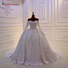 Mới thiết kế cô dâu váy làm cỏ dress satin với ren đầy đủ beading vạt áo