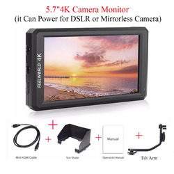 (can ship from EU) Feelworld F6 5.7 IPS 4K HDMI Camera-top Monitor for Canon Nikon Sony Camera,Monitor + Battery + Charger