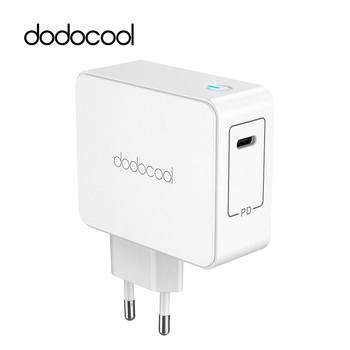 Dodocool 45 W USB tipo C cargador de pared adaptador de corriente con entrega de energía para Apple MacBook/iPhone X/nuevo iPad Pro USB-C PD cargador