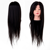 Hair Salon Mannequin Hairdressing Training Model Head Practice 65% Human Hair Training model head