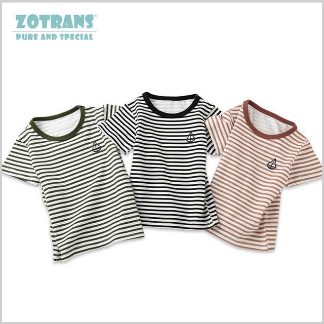 1694773f0c Baby Boy T shirt Bobo Choses Striped Cotton Summer Top Kids Clothes Short  Sleeve Ships Children Tee Shirt 2-8Years