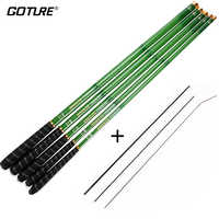 Goture Stream Fishing Rods 3.0m-7.2m Carbon Fiber Telescopic Fishing Rod Hand Pole Feeder for Carp Fishing Tenkara,olta,1pc/lot