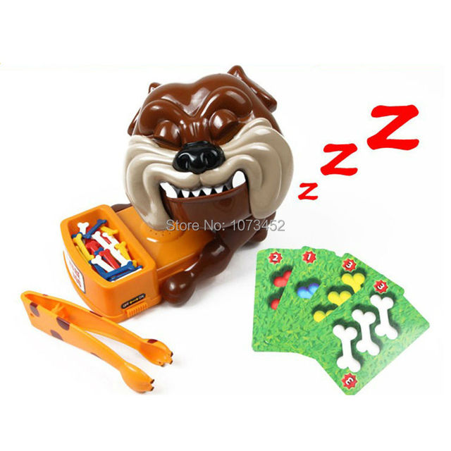 2016 New arrive  funny  battery operated flake out bullfight  dog board game joke toy  beware of the dog