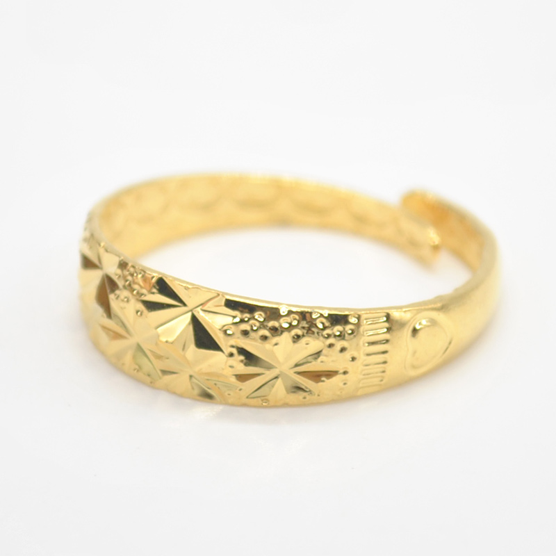 Adjustable Golden Starry Ring Female Finger Wedding Rings for ...