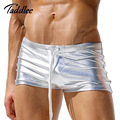 Taddlee Brand Sexy Men Underwear Boxer Trunks Shorts Gay Penis Pouch PU Men Designed Low Waist Boxers Bikini High Quality Boxers