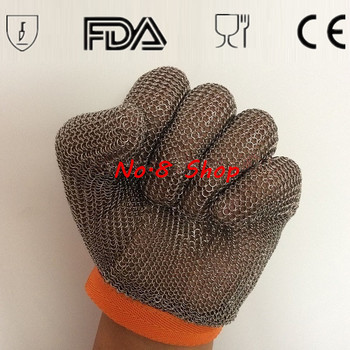 Free shipping Stainless Steel Welding Ring Glove Chain Butcher Mail Glove Chain Mesh Protective Metal Glove 5 Cut Level