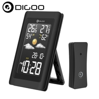 Digoo DG TH11300 Wireless HD Color Screen USB Outdoor Weather Station VA Glass Hygrometer Thermometer Forecast